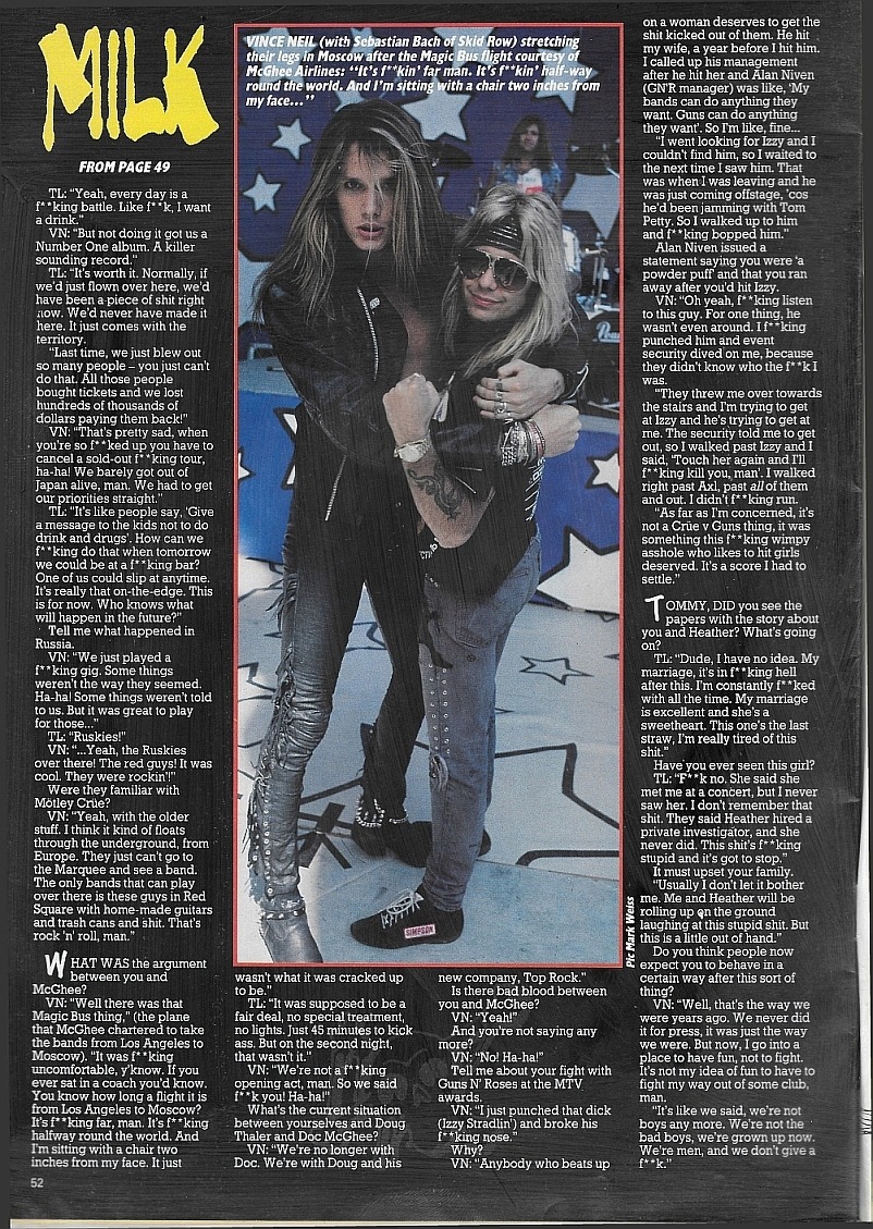 1989.09.08 - Los Angeles Times - Feud Between Rockers Boils Over Backstage at MTV Awards Kerran12