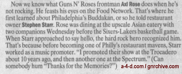 1991.06.13 - Philadelphia Spectrum, Philadelphia, USA Notes-14