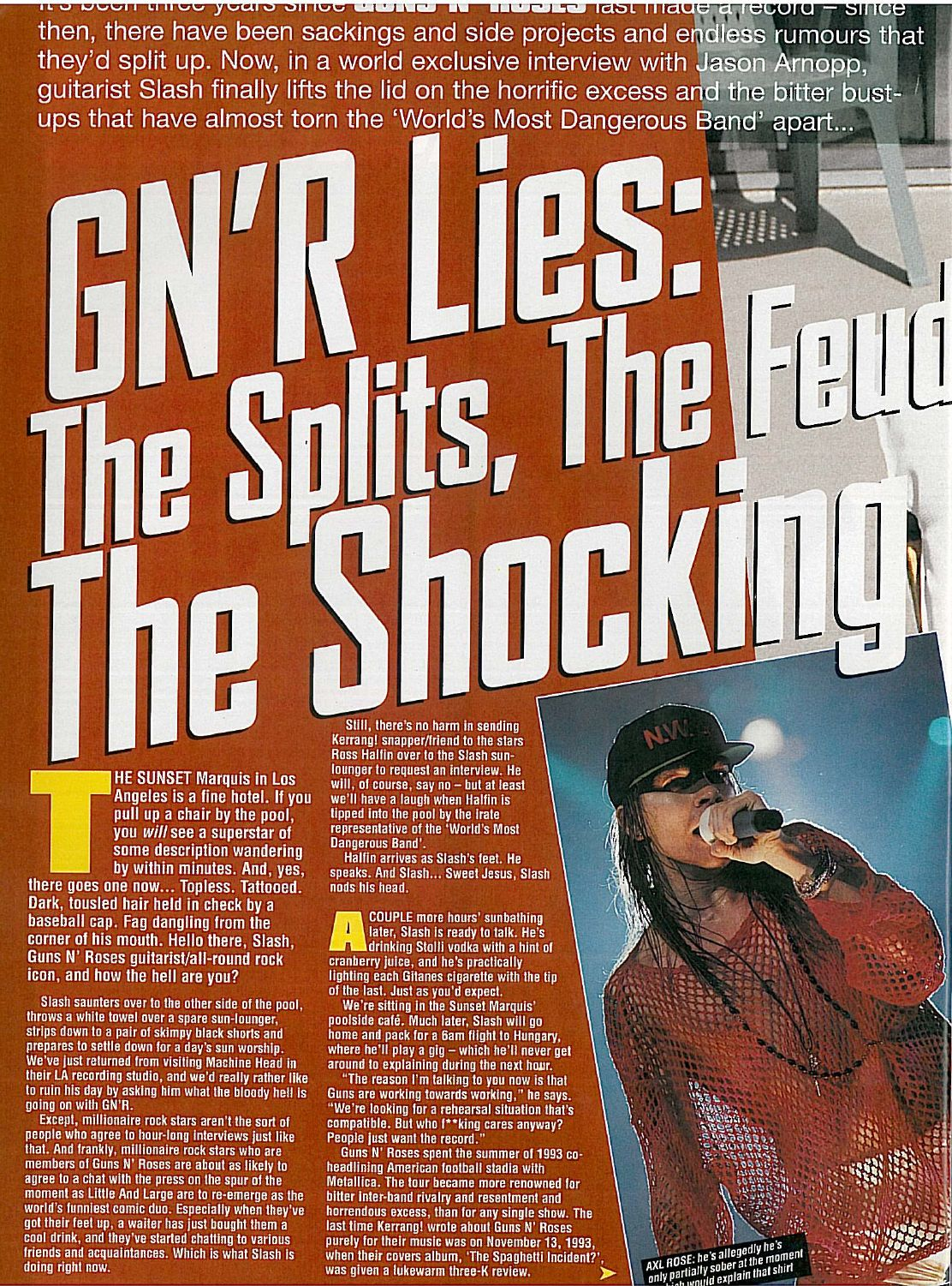 1996.09.14 - Kerrang! - GN'R Lies: The Splits, The Feuds, The Shocking Truth (Slash) Okqwnj11