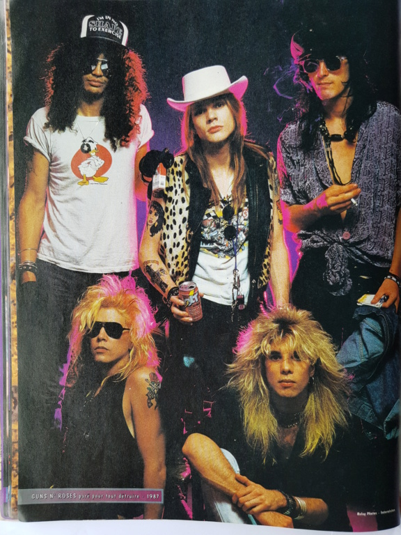 1987.10.08 - Hard Force (France) - The Would-Be Stars (Slash, Duff, Steven) P221110