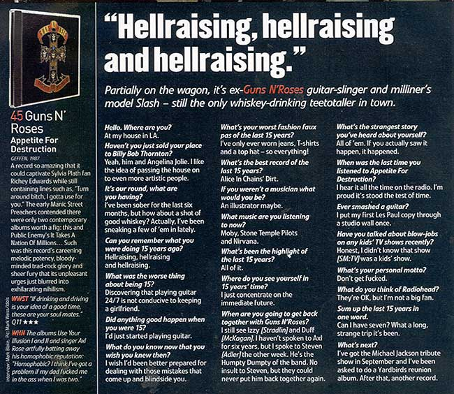 "2001.10.DD - Q - ""Hellraising, Hellraising and Hellraising"" (Slash) Q1int10"