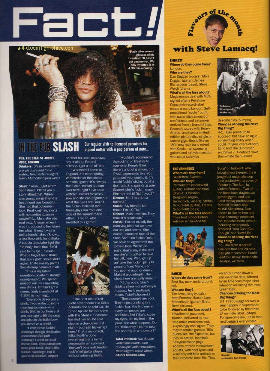 1995.09.DD - Select Magazine - In The Pub: Slash Select10
