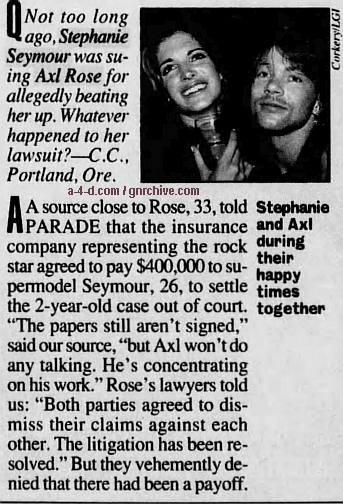1995.05.14 - Parade Magazine (Axl) Stepha10