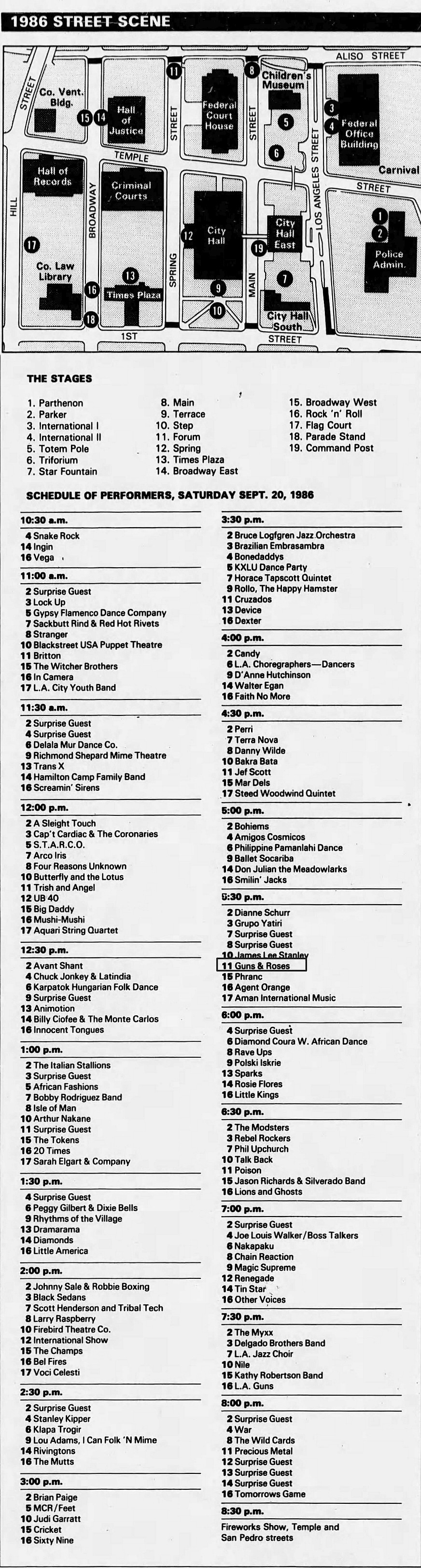 1986.09.20 - LA Street Scene Festival, Los Angeles, USA Street12