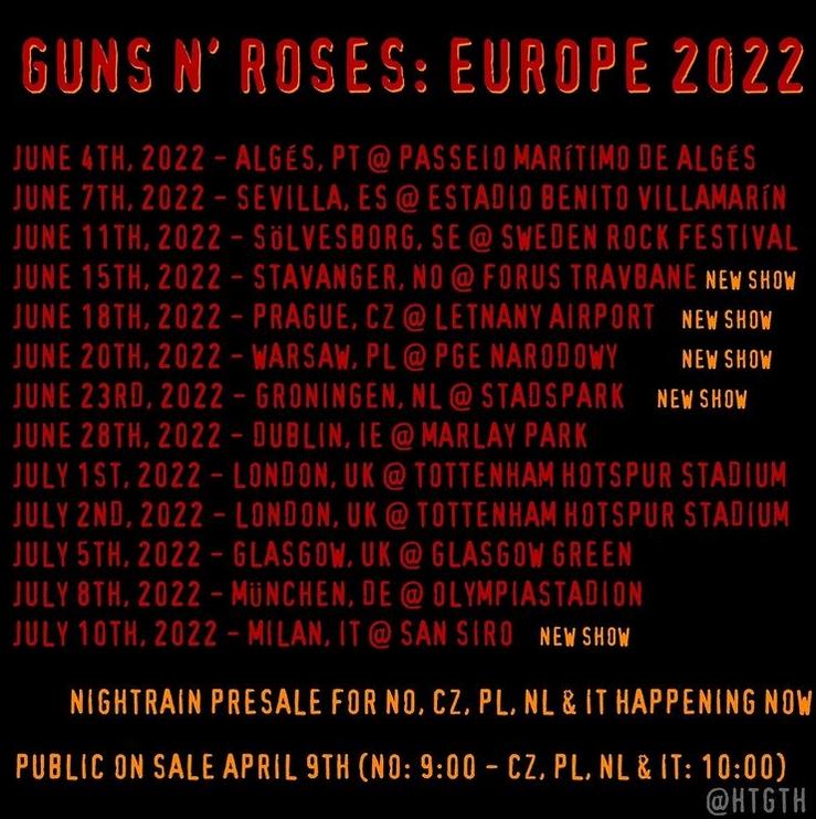Guns N' Roses to play in Stavanger, Norway, on June 15, 2022 Tour_210