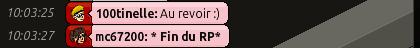 [R.] Rapport de Rôle Play de Mc67200 Captu823