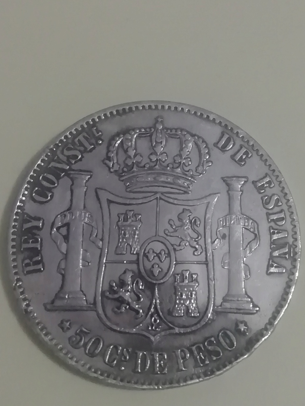 50 centavos de peso 1885. Alfonso XII. Filipinas Img_2026