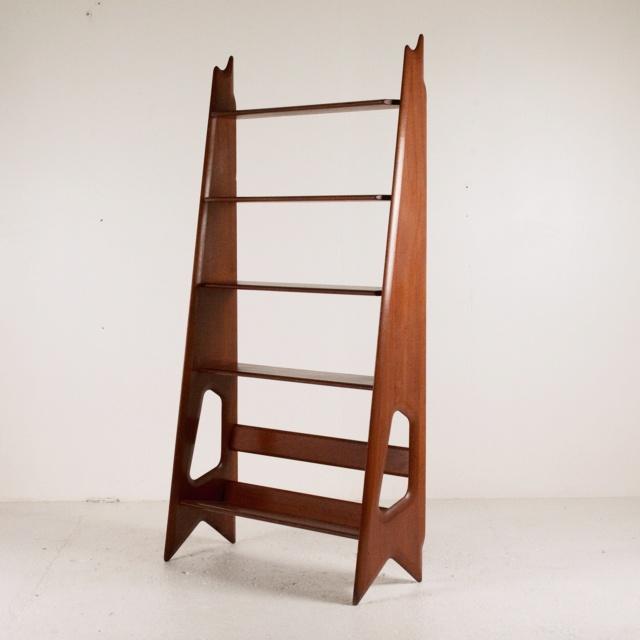 Petit meuble vintage en placage chène Biblio11