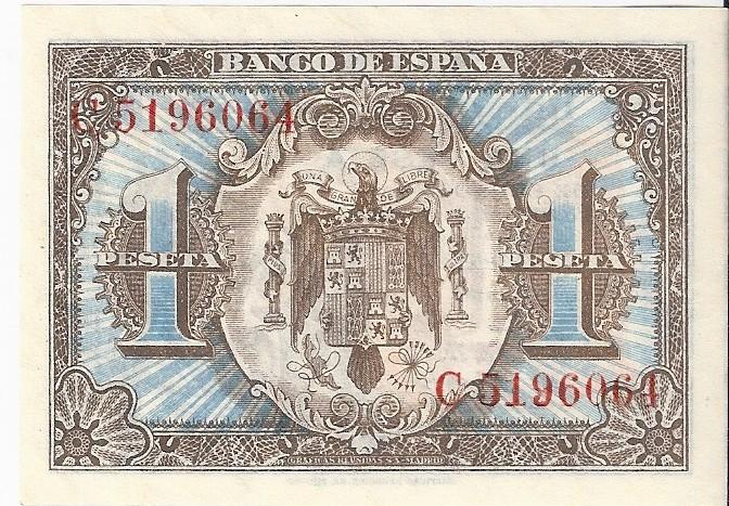 1 Peseta 1 de Junio  1940 - Serie Consecutiva 1_pese10