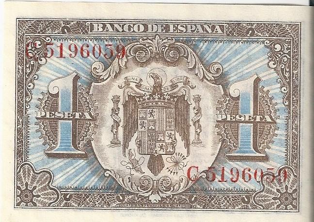 1 Peseta 1 de Junio  1940 - Serie Consecutiva 1_pese14