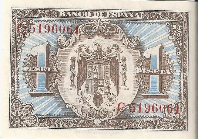 1 Peseta 1 de Junio  1940 - Serie Consecutiva 1_pese15