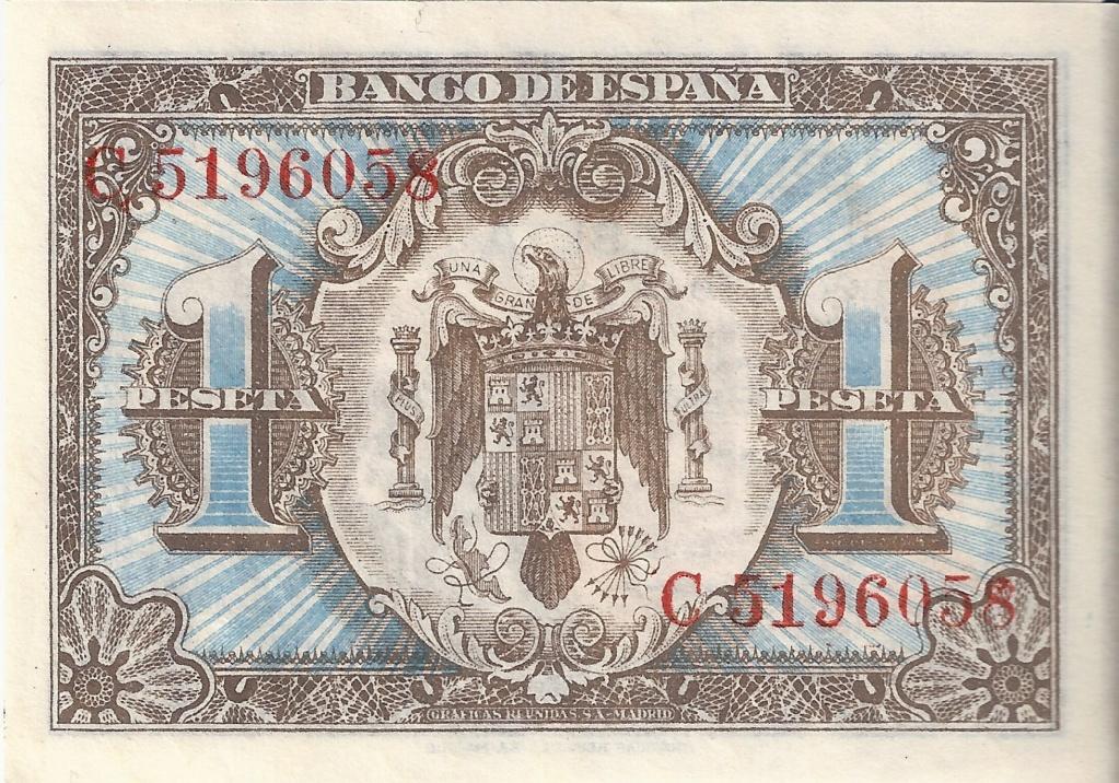 1 Peseta 1 de Junio  1940 - Serie Consecutiva 1_pese16