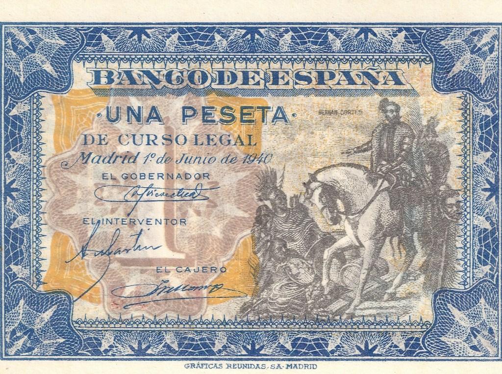 1 Peseta 1 de Junio  1940 - Serie Consecutiva 1_pese17