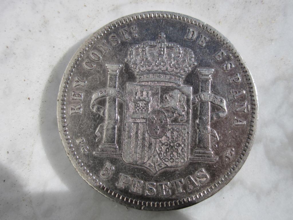 5 Pesetas 1883. Alfonso XII  5_pese23