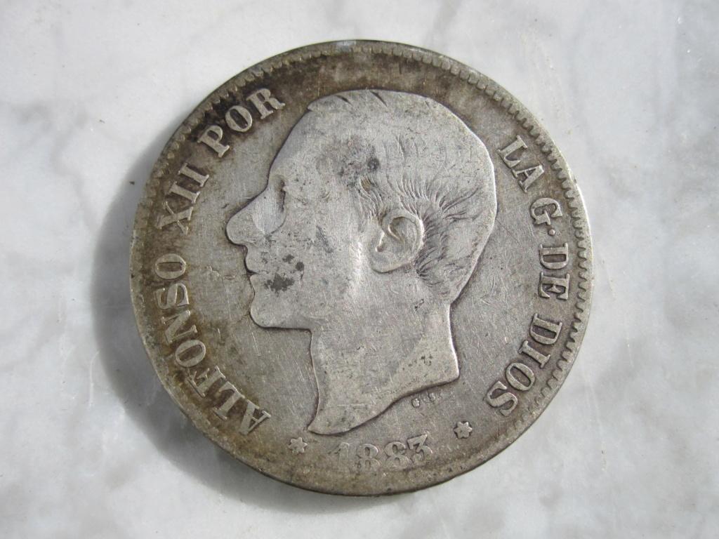 5 Pesetas 1883. Alfonso XII  5_pese24
