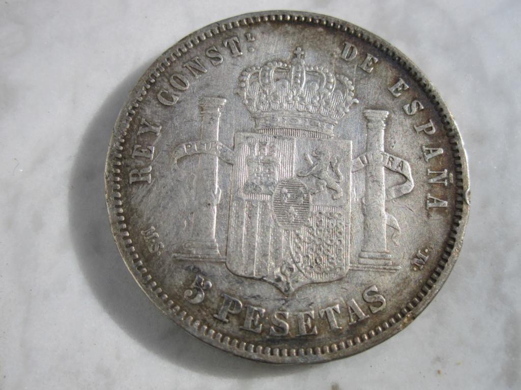 5 Pesetas 1884. Alfonso XII  5_pese25