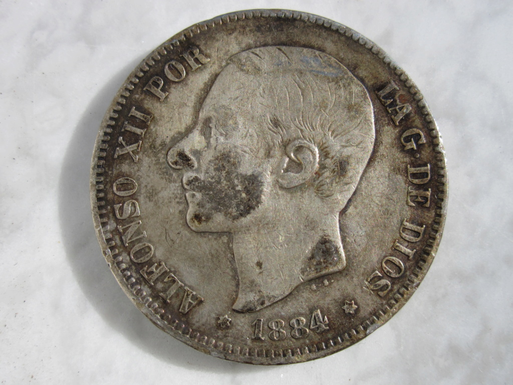 5 Pesetas 1884. Alfonso XII  5_pese26