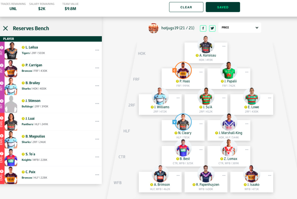 NRL Fantasy 2020 Part 3 - Page 4 Screen19