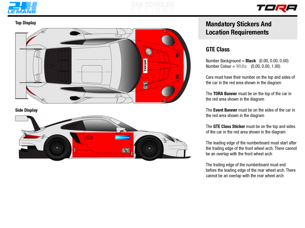 TORA 24 Hours of Le Mans - Livery & Decal Rules 2020_l17