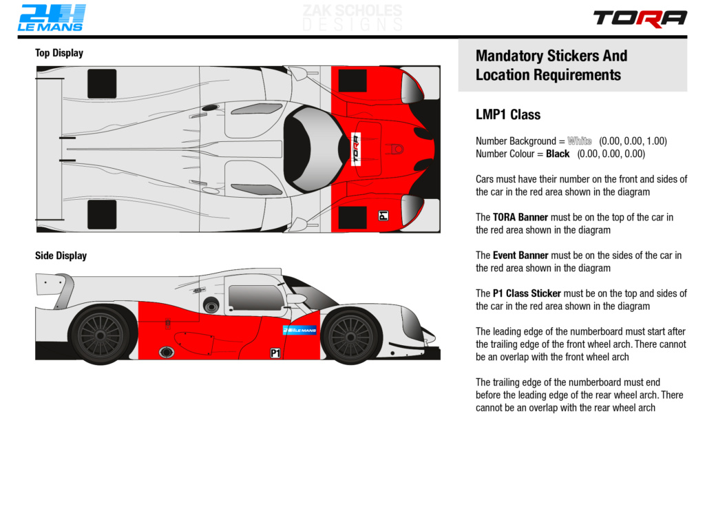 TORA 24 Hours of Le Mans - Livery & Decal Rules 2020_l18