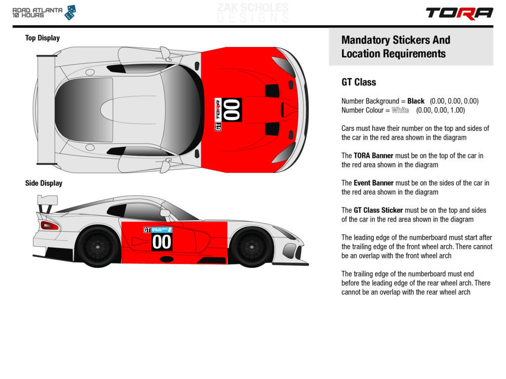 TORA 10 Hours of Road Atlanta - Livery & Decal Rules 2020_l38