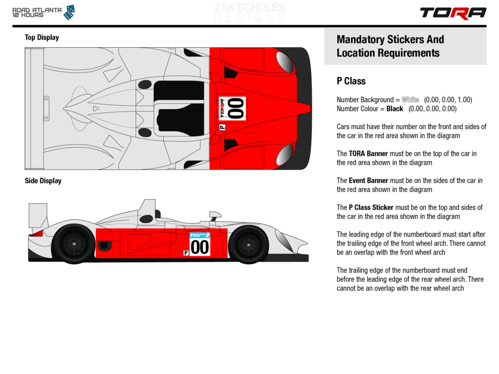 TORA 10 Hours of Road Atlanta - Livery & Decal Rules 2020_l39