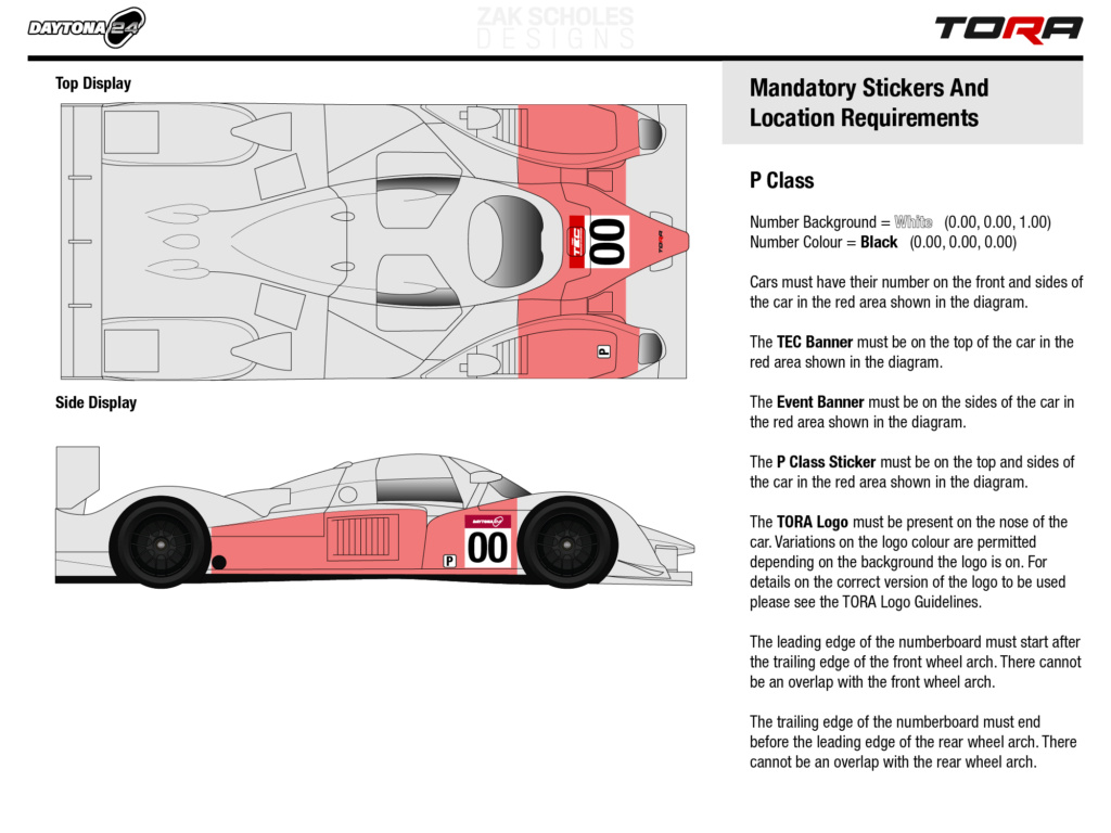 TEC R1 24 Hours of Daytona - Livery & Decal Rules 2021_l25