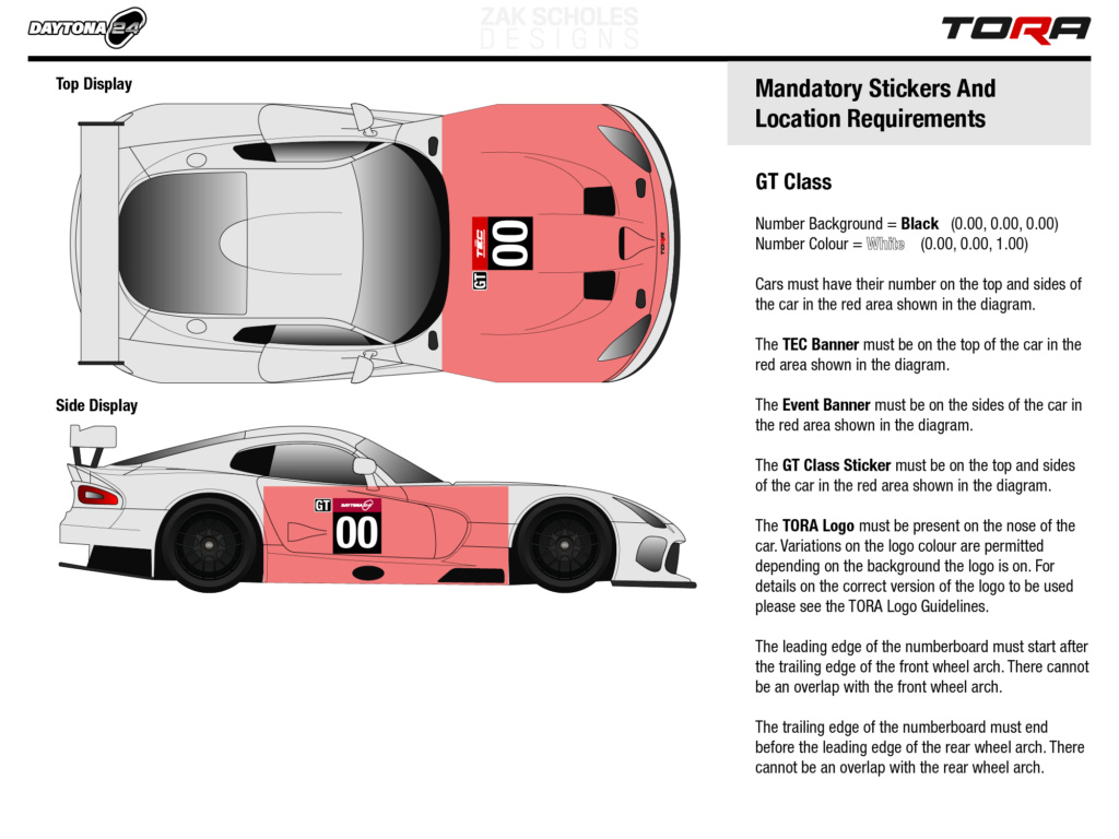 TEC R1 24 Hours of Daytona - Livery & Decal Rules 2021_l26
