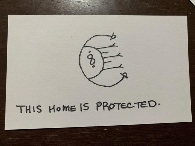 """Сигила """"Этот дом защищен"""" 4c8f4d10"""