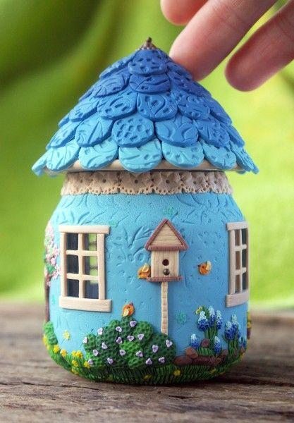 Сказочные домики из банок и полимерной глины 90801610
