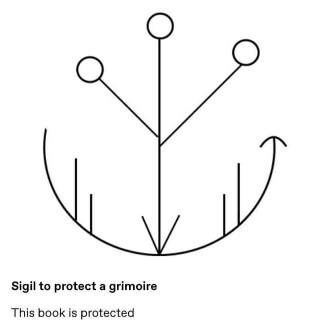 Сигила для защиты гримуара Dbffde10