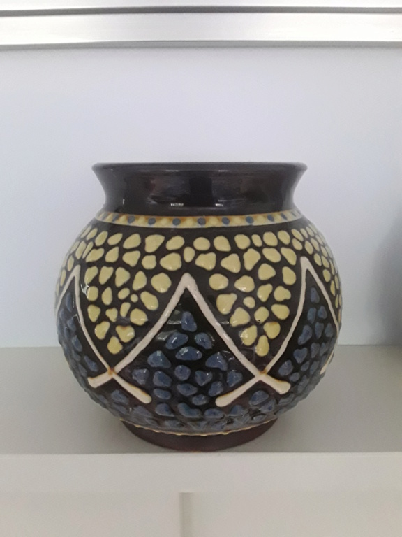 Unusual hand painted planter or vase 20210614