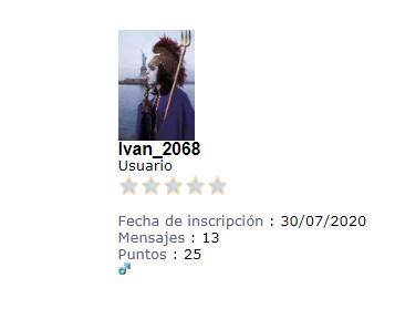 Ivan_2068, quedará en la historia, como el Enemigo de la Fuente Eterna de Energía Evolutiva Permanente. 24-8-211