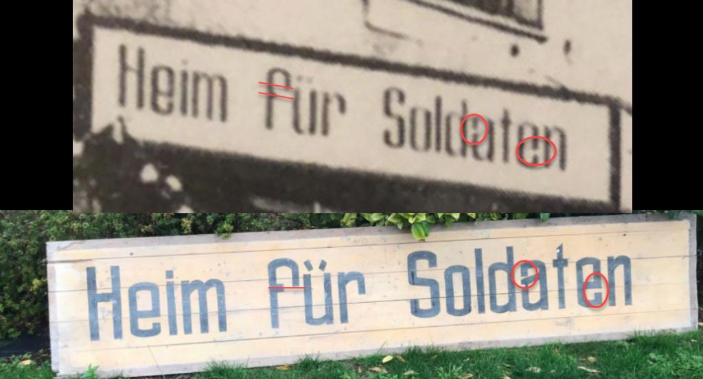 Pancarte foyer du soldat allemand  2020-115
