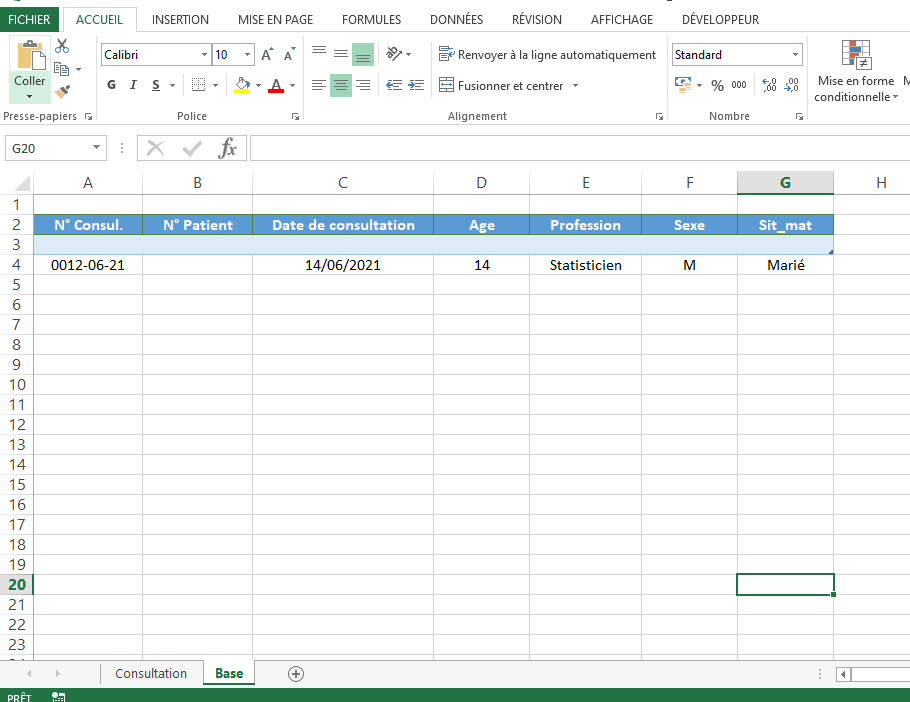 VBA -Archiver des données en insérant une ligne dans la base Base12