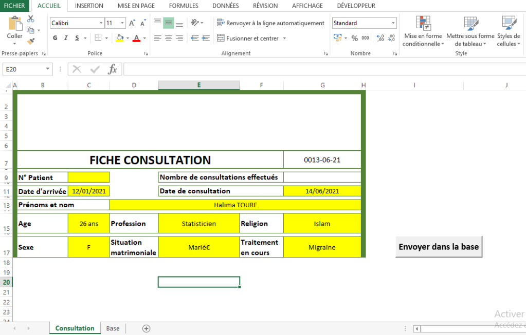 VBA -Archiver des données en insérant une ligne dans la base Consut12