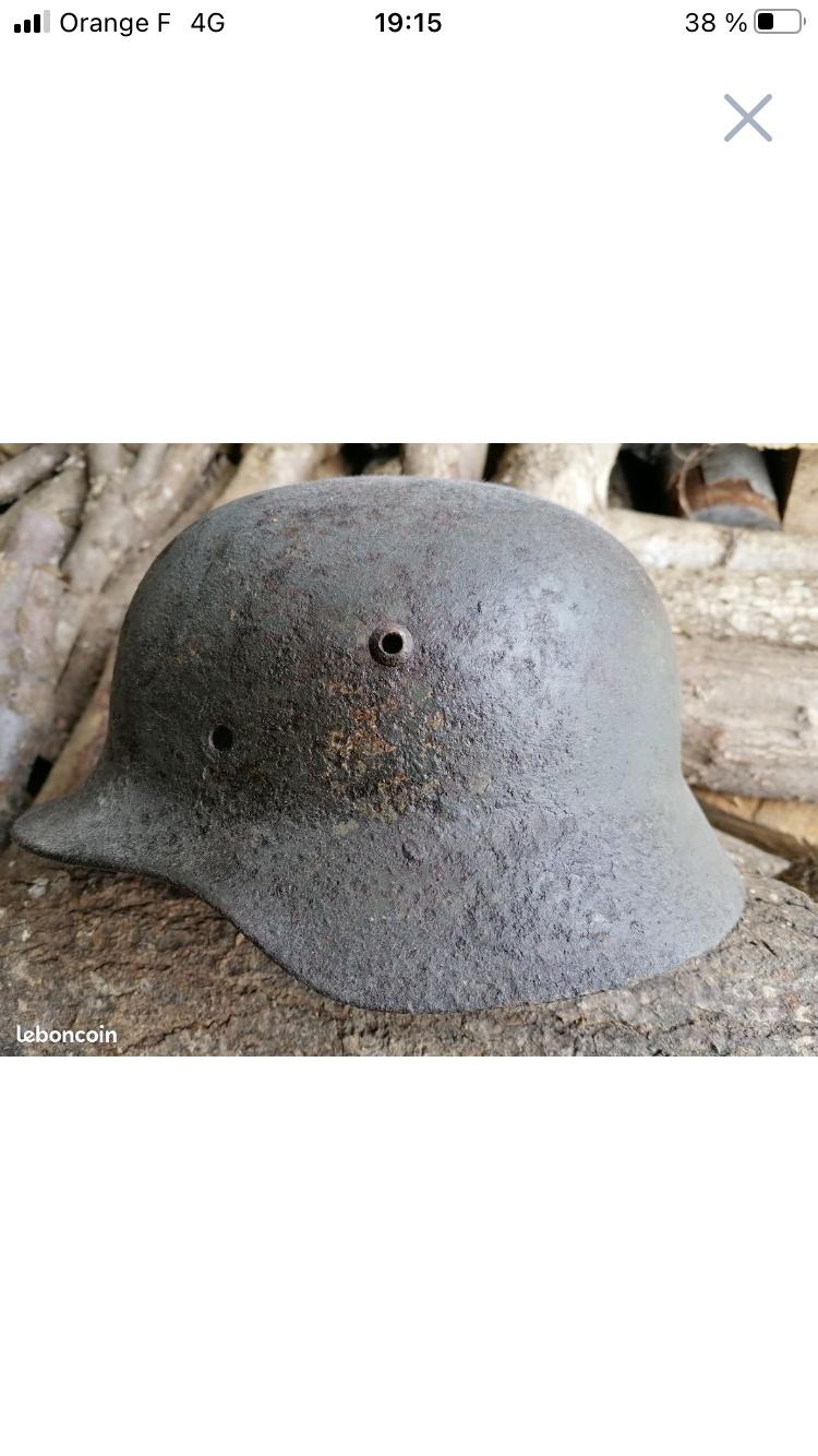 Casque allemand seconde guerre aide authentification  480a4110