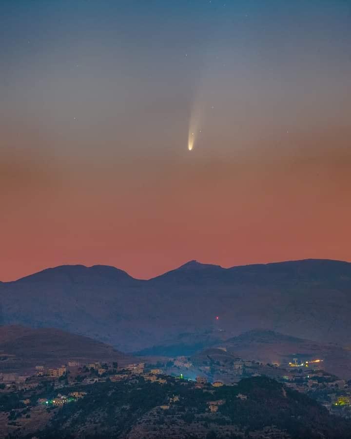comète à l'horizon Neowis10