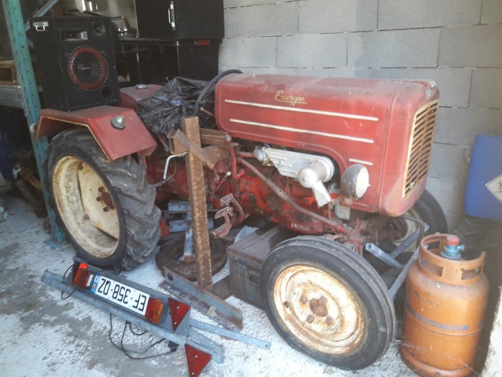 TRACTEUR - ( Vends ) tracteur Energic 511 avec cg  20200810
