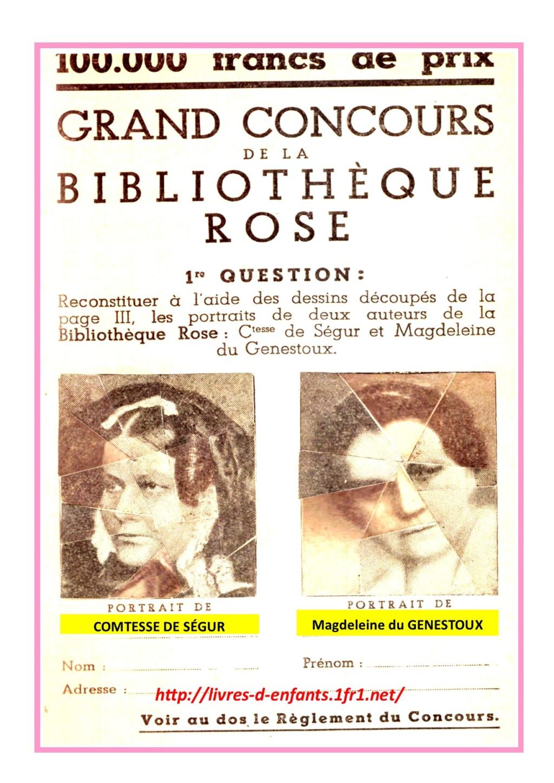 Grand concours de la bibliothèque rose - Page 2 Concou10