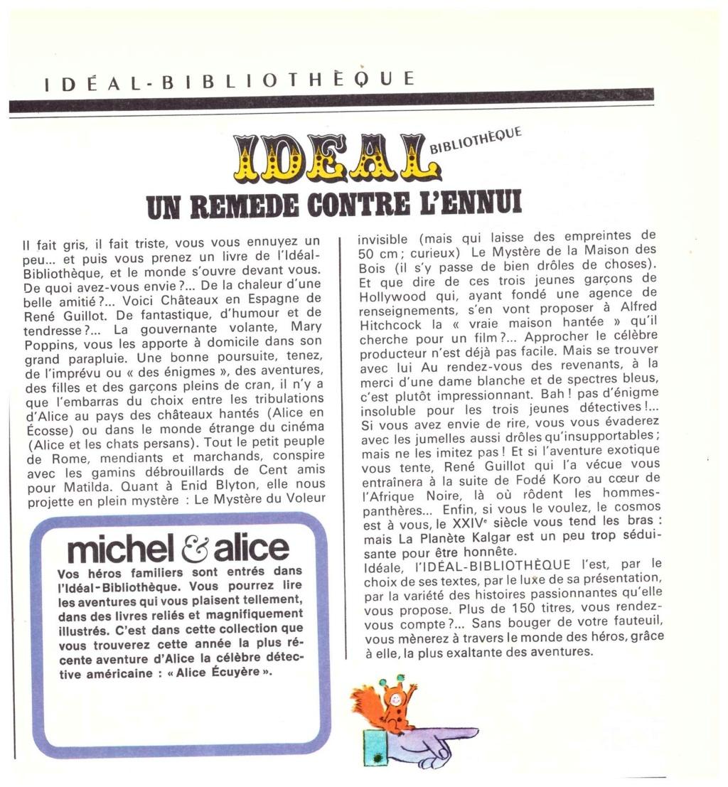 Publicités et catalogues sur l'Idéal-Bibliothèque Num_2047