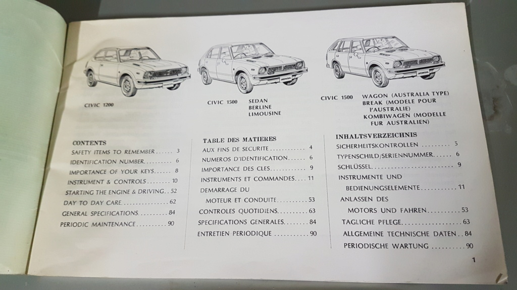 Enfin j'en ai une .. Honda CIVIC SB1 de 1977 1ère génération 20180211