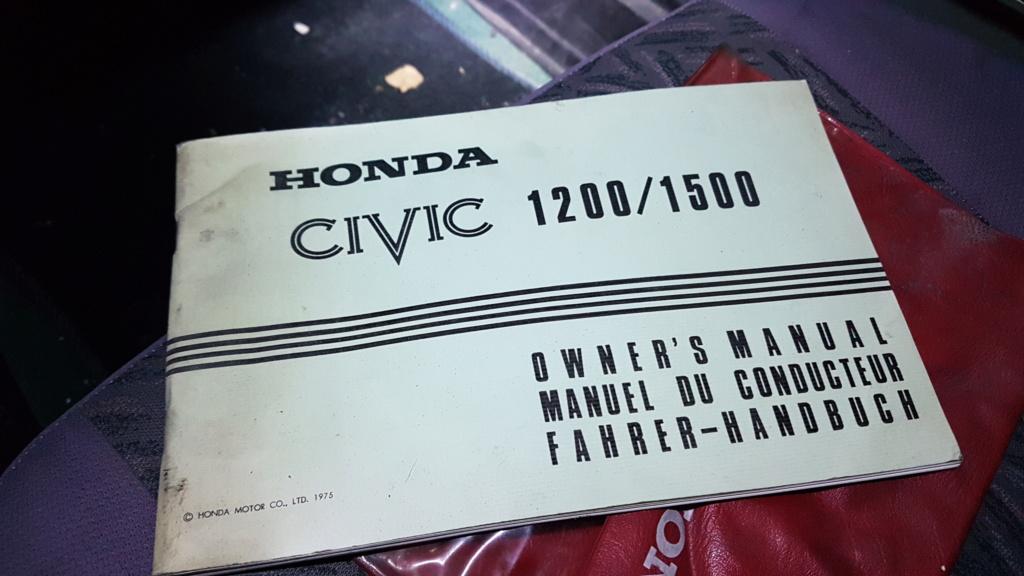 Enfin j'en ai une .. Honda CIVIC SB1 de 1977 1ère génération 20180212