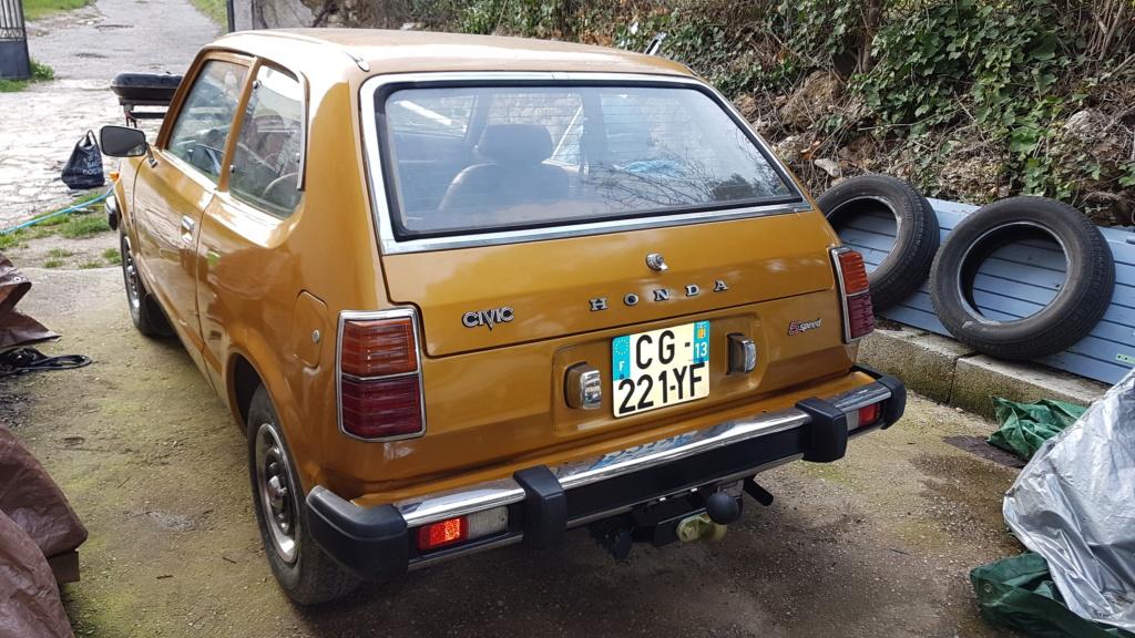 Enfin j'en ai une .. Honda CIVIC SB1 de 1977 1ère génération 20180355