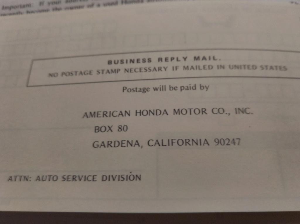 Enfin j'en ai une .. Honda CIVIC SB1 de 1977 1ère génération - Page 3 Img_2188
