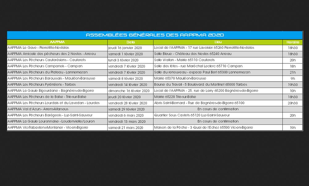 Assemblées Générales 2020 du 65  Dates_10