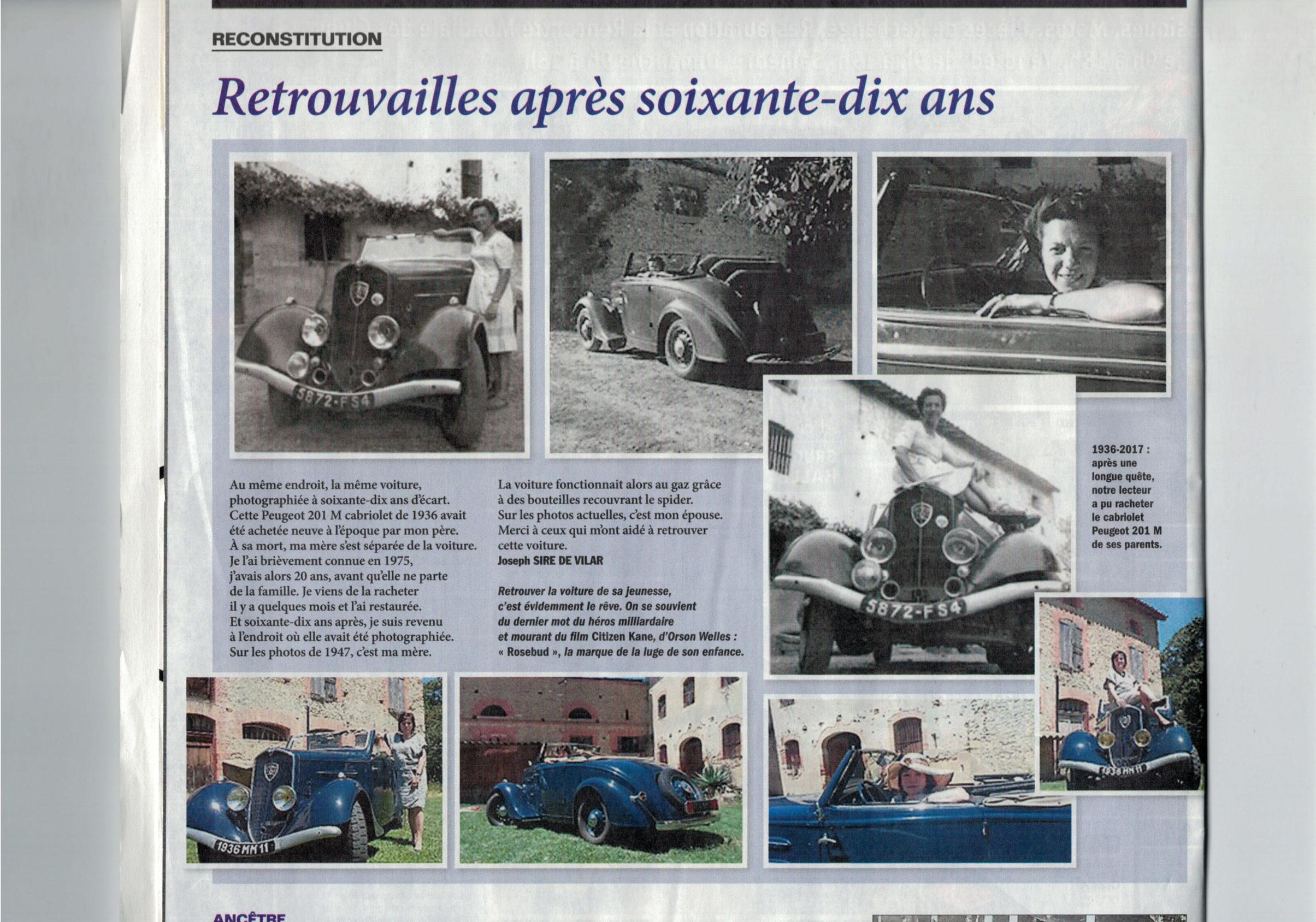 Présentation : Joseph , avec une 201 M Cabriolet 1936 201-lv13