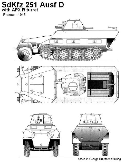 Vehicules recuperes par les FFI -1944 0119