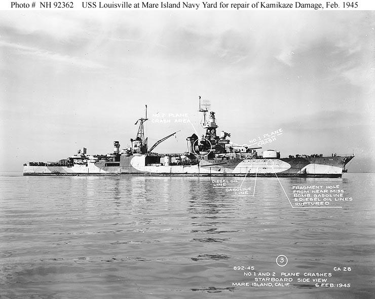 Navires US endommages par des kamikazes 04028110