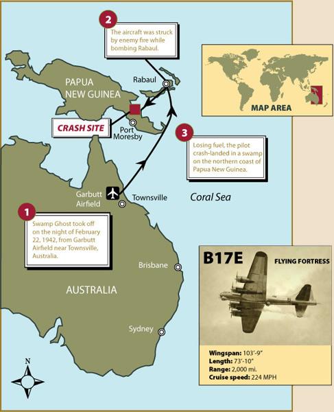 Epaves B-17 en Papouasie Nouvelle Guinee 1swamp10